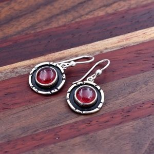 ‼️Clearance‼️925 Silver & Red Quartz Earrings